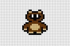 tanooki suit mario pixel art