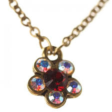 michal negrin pendant necklace dark red aurora borealis gold necklaces michal negrin jewellery