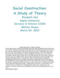 unit hall elizabeth social construction essay   construction a study of theory 2