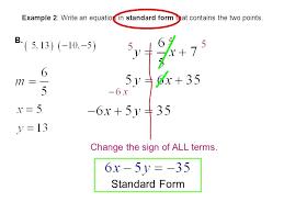 write each equation in standard form math worksheet writing algebraic equations google search math standard form
