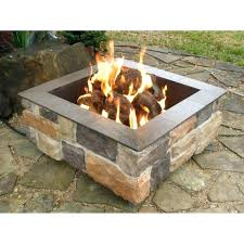 outdoor propane fireplace kits gas fire pit diy