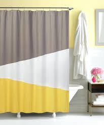 yellow white shower curtain bathroom ideas smlf gray