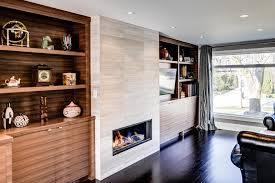 gas fireplace corner unit family room contemporary with additions architect basement black image by bravehart building