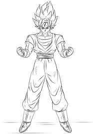 Goku Super Saiyan Coloring Page Free Printable Coloring Pages
