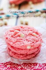 Strawberry Chip Cookies A Cake Mix Cookie Recipe Mandys Recipe Box