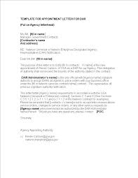 Free Contractor Appointment Letter Templates At