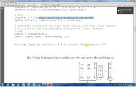 solving genous equations in matlab by svd