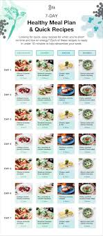 7 Day Healthy Meal Planner With Grocery List And Recipes 8fit