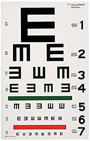 E Chart Test Dukal 3064 Tech Med Illuminated Eye Chart Tumbling E 20