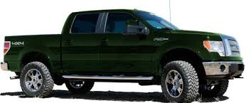 ford trucks f150 lifted. side view of a ford body lift kit for f150 series trucks lifted