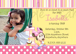 birthday invitation template minnie mouse first