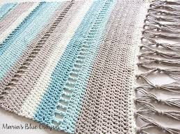 Free Crochet Rug Patterns Best Coastal Indoor Rug Free Crochet Pattern Made With Caron Cotton