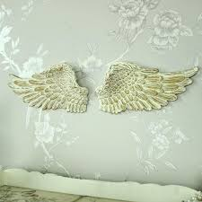 pair of small wall mounted cream angel wings flora furniture hover white wall mounted angel wings wall mounted angel wings