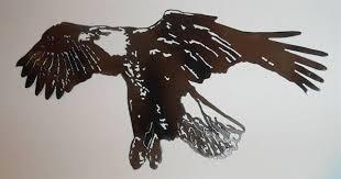 custom made eagle metal wall art