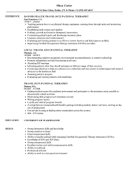 Travel Occupational Therapist Resume Samples Velvet Jobs