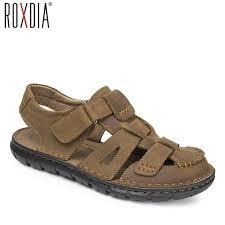genuine leather eva sandals roxdia mens gladiator sandal genuine leather summer men sandals new fashion breathable