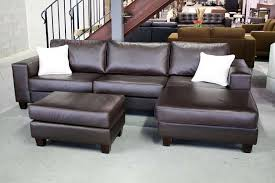 terrific small leather sectional sofas brown leather couch sofa amp couch designs