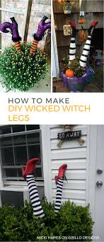 Witch Decorating How To Make Wicked Witch Legs O Grillo Designs