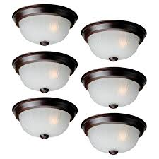 project source 6 pack 10 in w bronze flush mount light