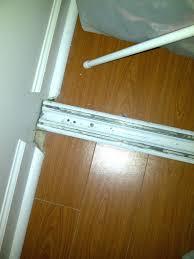 closet rolling closet door hardware closet door bottom track carpet guides bottom by pass door