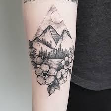 200 Best Mountain Tattoos For Men 2019 Range Geometric Simple