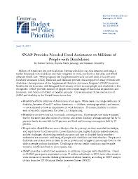 Va Disability Chart 2017 Snap Provides Needed Food Assistance To Millions Of People