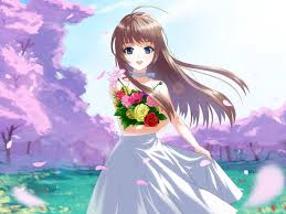 Anime Girl Flowers Wallpapers - Top ...