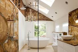 Eclectic Bathroom Awesome Bathrooms Cool Bathroom With Modern Bathtub Under Metallic Magic
