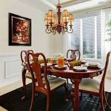 wall colors for dark furniture. Dining Room Paint Colors Dark Furniture Round Brown Varnished Wood Table White Stained Glass Window Wall For
