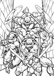 age mutant ninja all coloring pages for kids printable free
