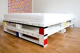MONDRIAN INSPIRED PALLET BED FRAME