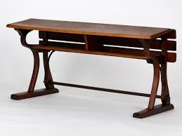 czech vintage school desks from d g fischel söhne set of 2