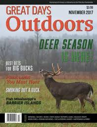 Deer Movement Chart Ms Great Days Outdoors November 2017 By Trendsouth Media Issuu