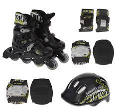 Набор Роликовые <b>коньки</b> защита шлем <b>ACTION PW</b>-<b>120B р</b>. <b>31</b> ...