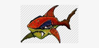 Hand-drawn Cartoon Alien Shark By Aaron Goodson - Snapper - Free  Transparent PNG Download - PNGkey