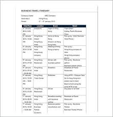Word Travel Itinerary Template Excel Itinerary Template Caseyroberts Co