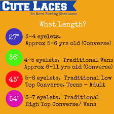 Shoelace Width Chart Shoelace Lengths Cute Laces