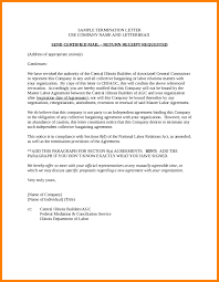 termination letter template contract termination letter template sample contract termination