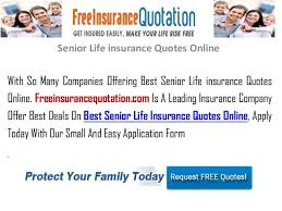 Senior Life Insurance Quotes Online