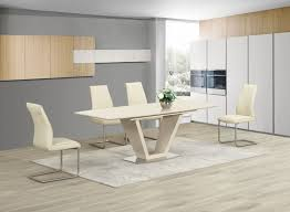 dining chairs and table uk. ga loriga cream gloss glass designer dining table extending 160 220 cm chairs 2 colours and uk