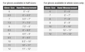 Glove Size 10 Chart Held Motorcycle Glove Size Chart Sierra Bmw Motorcycle
