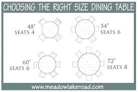 dining table size for 6 round chairs what seats room sizes per