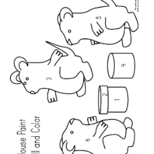 Mouse Paint Coloring Page Kids Drawing And Coloring Pages Marisa