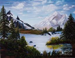 Mountain Splendor Painting by Myrna Walsh