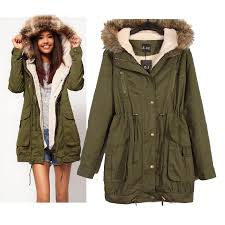 best women down coat a parka new faux fur hooded army green outwear winter overcoat large big size thick coat jacket for under 42 98 dhgate com