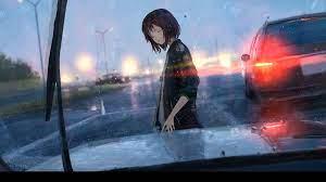 Girl In The Rain Anime Wallpaper ...