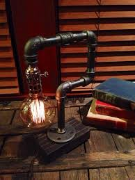 etsy industrial lighting. edison light metal desk lamp reclaimed wood base bulb included vintage industrial etsy lighting a
