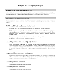 hospital housekeeping job description housekeeping job duties