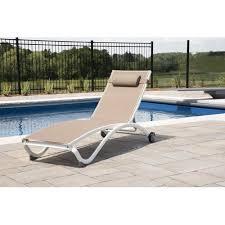 reclining chaise lounge. Ebern Designs Burinskiy Reclining Chaise Lounge With Cushion
