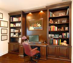 terrific bookcase with built in desk built in